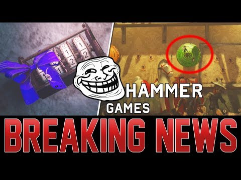 SLEDGEHAMMER TROLLS ZOMBIES COMMUNITY WITH NEW EASTER EGG!  INSIDE THE SECRET BOX UNDER THE HQ!