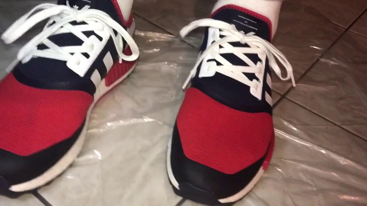 Adidas NMD R1 OG CUSTOM Tutorial Blackout On Foot Sneaker