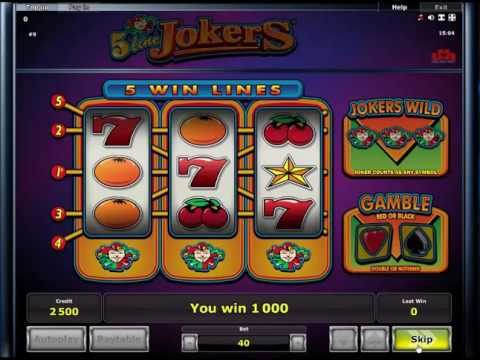 5 Line Jokers fruitmachine - Online Casino Slots