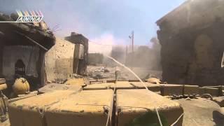 Сирия!! жёсткий бой танка с боевиками в упор!!
