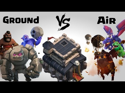 Ground Vs Air TH9 Impossible Challenge | Clash Of Clans INDIA