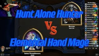Elemental Hand Mage vs Hunt Alone Hunter - Hearthstone