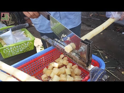 Street Food Vietnam 2017 - Fresh Sugar Cane