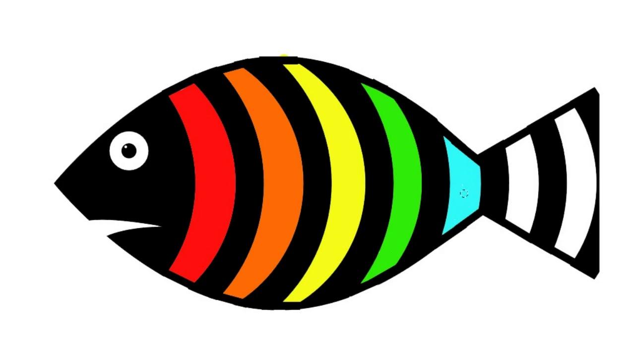 Coloring a Rainbow Fish. Colorear un Pez Arcoíris