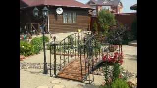 Садовые мостики (48 фото): особенности декоративных изделий из металла для сада, фото и видео