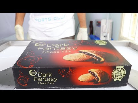 ICE CREAM ROLLS With DARK FANTASY CHOCO FILLS  SATISFYING ASMR