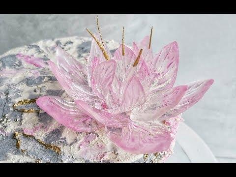 Цветок из изомальта без молдов/Isomalt Flower Without Mold