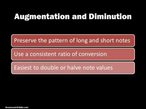 105 Rhythmic Augmentation and Diminution