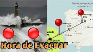 Huracán Leslie a punto de tocar tierra en España