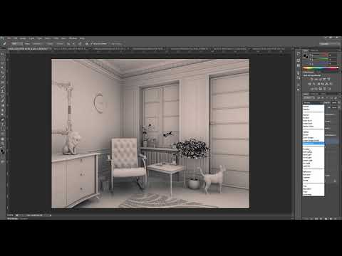 PostProduction Interior Scene