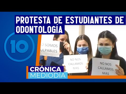 Protestaron estudiantes de Odontología pidiendo justicia