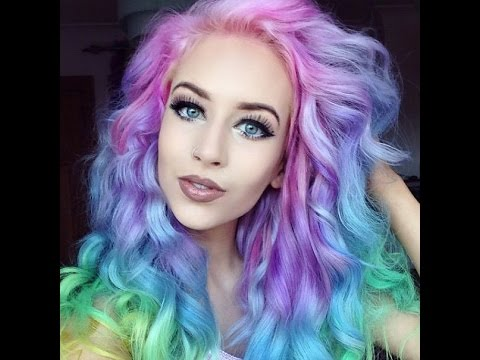 2015 rainbow pastel hair love