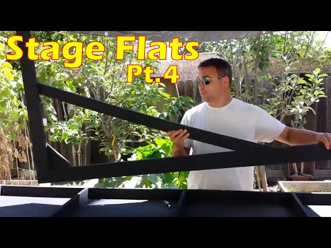 Building Set Walls   Jack Stands & Support Bracing For Hollywood Flat Wall Panels (Pt.4)