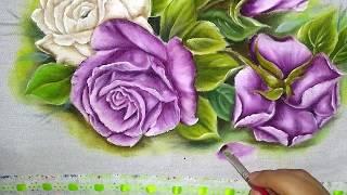 Como pintar lindas rosas –  Truques e dicas