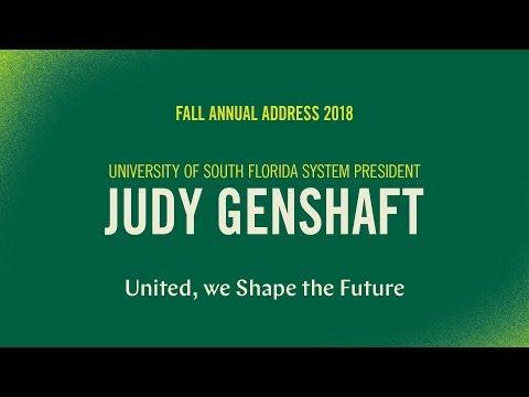 USF System President Judy Genshaft's 2018 Fall Address