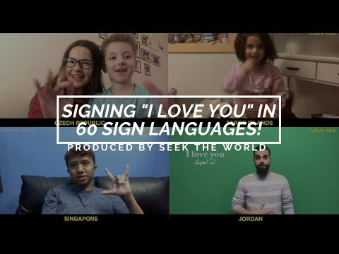 How to say i love you with all my heart in sign language