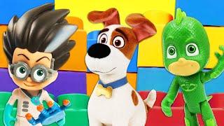 Видео про игрушки из мультфильмов Герои в масках, Макса и Хлою! Ромео снова пакостит!