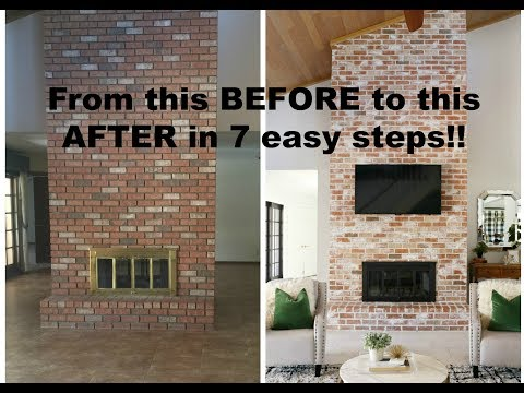 HOW TO: Grout a Brick Fireplace