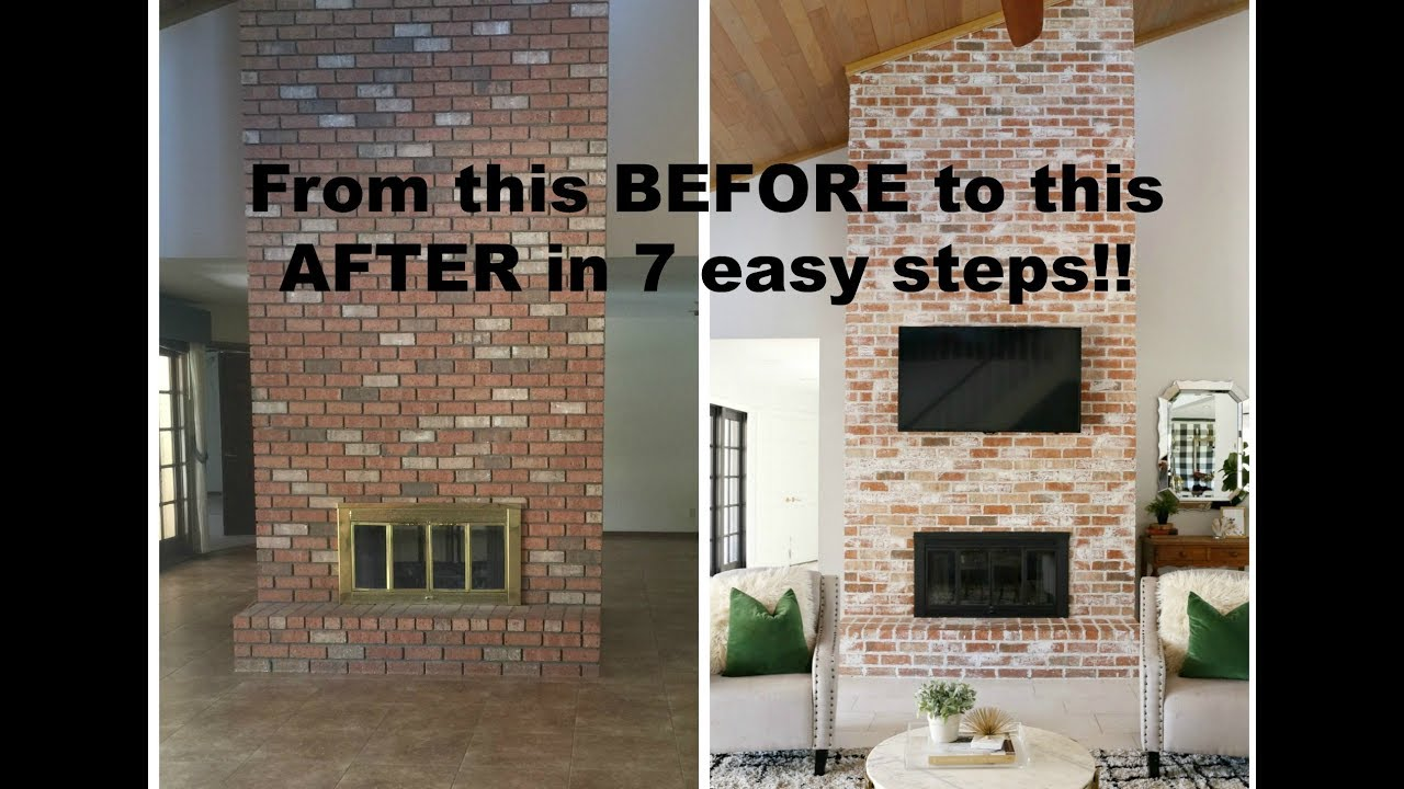 How To Grout A Brick Fireplace