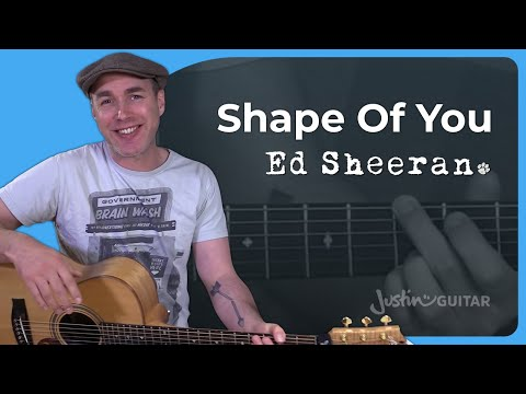 How to play Shape Of You by Ed Sheeran - Guitar Lesson Tutorial Divide