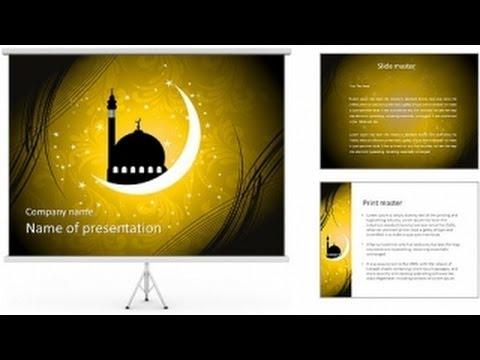 Muslim Mosque Powerpoint Templates