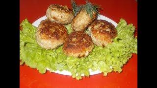 сочные свиные котлеты с грибами, на сковородке