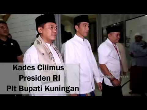 Presiden Jokowi solat Taraweh di Masjid Desa Cilimus - Kuningan - Jabar