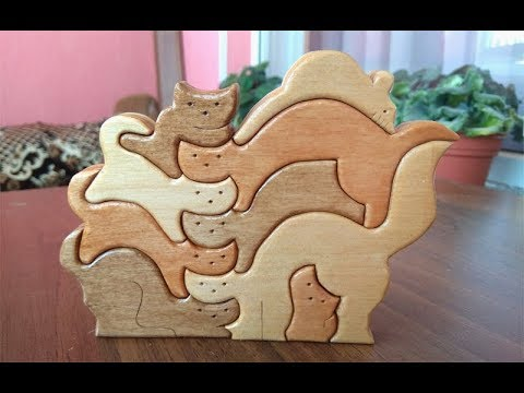 Making of Cats puzzle - Scroll saw project