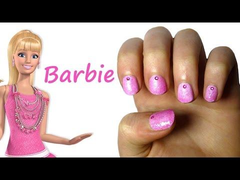 Pink barbie nail art youtube pink barbie nail art prinsesfo Images