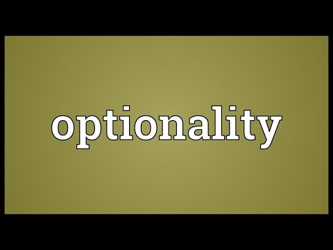 Header of optionality