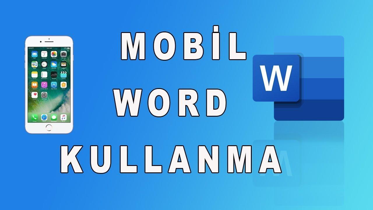 Mobil Microsoft Word Kullanımı Mobil Word Fotoğraf Ekleme