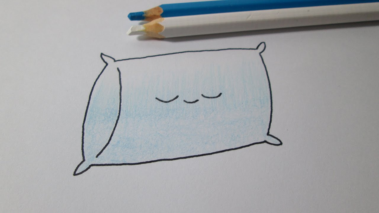 How to draw a kawaii pillow - YouTube