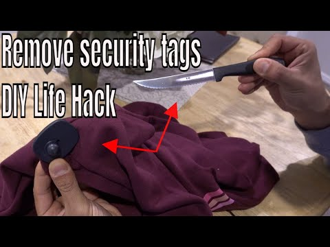 How to remove a security tag from clothing - Life Hack DIY
