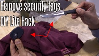 How to remove a secขrity tag from clothing - Life Hack DIY