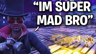 Scammer goes PSYCHO after losing rare weapon! 😂 (Scammer Get Scammed) Fortnite Save The World