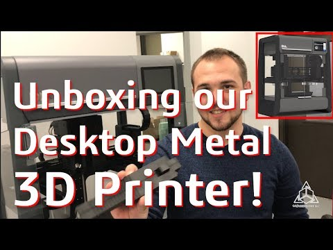 Unboxing our Desktop Metal 3D Printer!