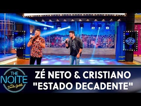 """Zé Neto & Cristiano cantam """"Estado Decadente""""  The Noite 220519"""