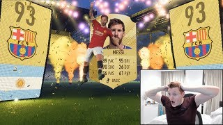 OMG MESSI IN A PACK!!! THE LUCKIEST FIFA 18 PACK OPENING EVER!!!