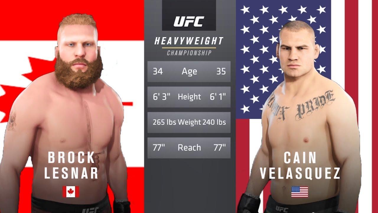 Download Brock Lesnar Vs Cain Velasquez EA Sports UFC 3   INTENSE FIGHT