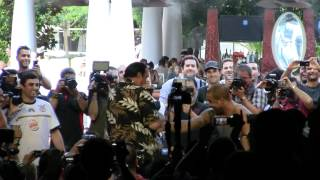 "Steven Seagal spars with former Strikeforce Light Heavyweight Champion Rafael ""Feijo"" Cavalcante"