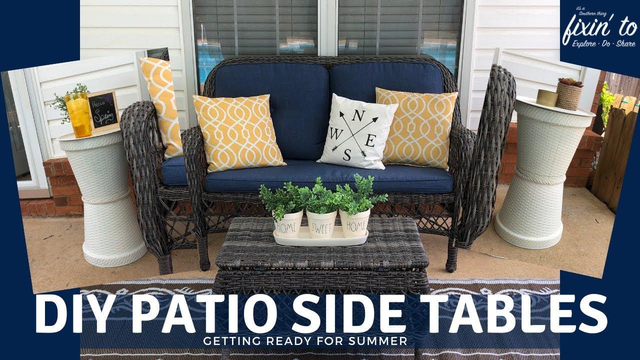 dollar tree patio decor diy patio side tables getting ready for summer