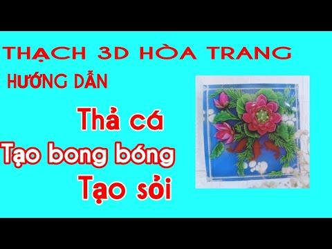 HD THẢ CÁ TẠO SỎI VÀ BONG BÓNG THẠCH 3D HOA TRANG(3D JELLY)