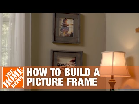 DIY Picture Frame: Rustic Frames | The Home Depot
