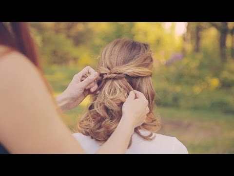 Wedding Hairstyles How To Make A Simple Half Up Youtube