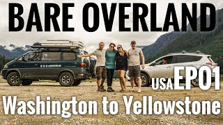 USA off-grid Vanlife - Washington to Yellowstone - 4x4 off road adventure