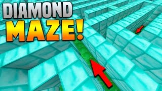 THE DIAMOND MAZE!! | Minecraft CRAZY MAP with Preston & Vikkstar123