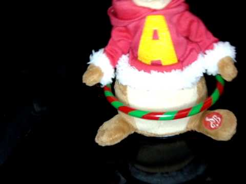 Musical Alvin, The Chipmunks In Santa Claus Outfit, Sings Animated  Hula Hoop