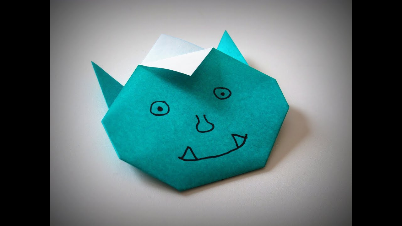 Origami How To Make A Funny Monster Oni Youtube