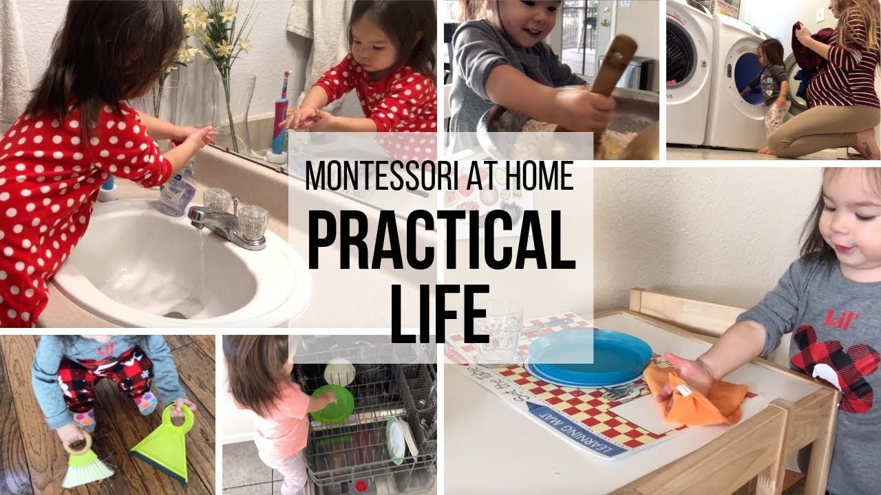 Montessori At Home Practical Life For Toddlers Youtube