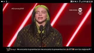 Billie Elish is best new artist Grammy Awards 2020